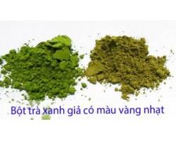 Phân biệt bột trà xanh matcha thật và giả